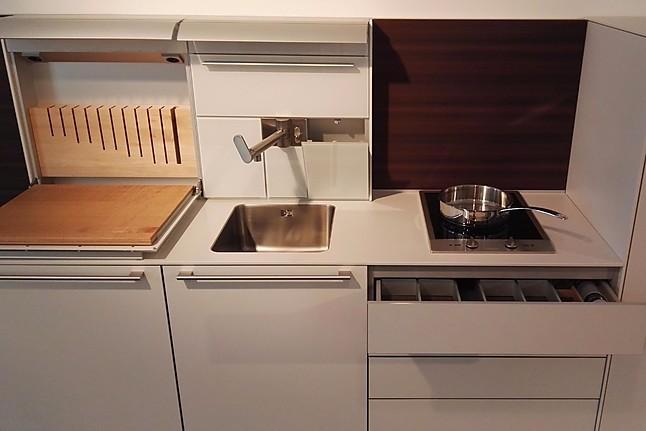 bulthaup musterk che laminat kaolin ausstellungsk che in freiburg von die k che. Black Bedroom Furniture Sets. Home Design Ideas