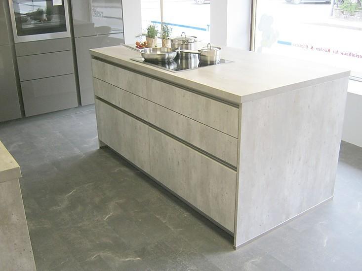 ap ro k chen musterk che desingk che in beton steinopitik kombiniert mit lava hochglanz lack. Black Bedroom Furniture Sets. Home Design Ideas